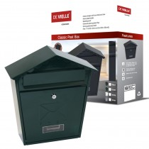 Classic Post Box Green (Wall Mounted)