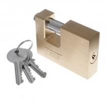 Tessi Rectangular Brass Padlock 90mm