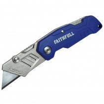 Faithfull Folding Lock Back Utility Knife