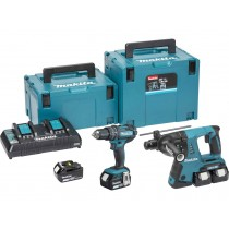 Makita DLX2137PMJ 18V 2pce Kit