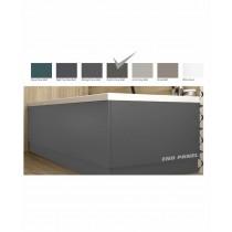 Scandinavian End Bath Panel 800mm Matt Dolphin Grey