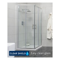 Usher City Chrome Corner Entry 900 Shower Door 865-890