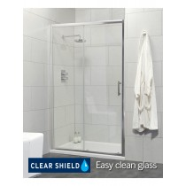 Usher City Chrome Sliding 1100 Shower Door 1040-1090