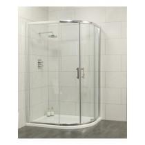 Usher City Chrome Offset Quadrant 1000x800 Shower Door 965-990