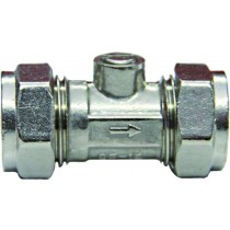 "Service Valve Isolating 3/4""CXC Chrome straight"