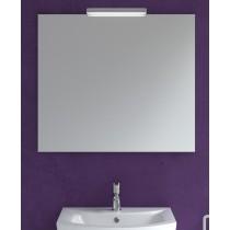 800mm x 700mm Mirror & Veronica Chrome Light