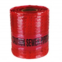 Caution Sewer Pipe Below Detectamesh Warning Tape.