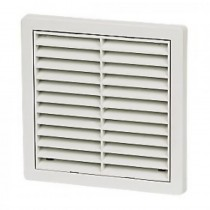 Wall Vent Square Louvre with Fly Screen 100mm - White