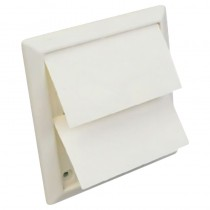 Wall Vent Square with Flap 100mm White