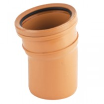 Sewer Bend 11.25 degreerees Single Socket 110mm