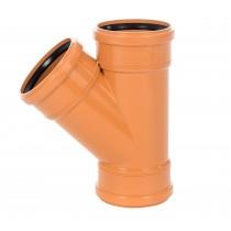 Sewer Y 45 degreeree Triple Socket 225x110mm