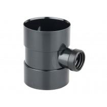 110mm x 40mm Black Soil Bossed Pipe (Coupling)