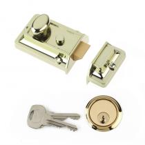 Yale Essentials Nightlatch Polished Brass