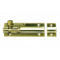 Barrel Bolt Necked (Cranked) 100mm Brass