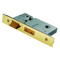 Bathroom Mortice Lock 2 Lever 63mm Brass