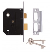 Bathroom Mortice Lock 2 Lever 63mm Black