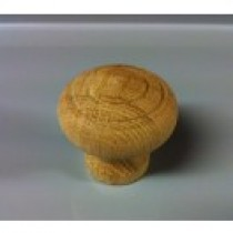 Cabinet Knob Medium Oak with 2 Ring Design Bolted
