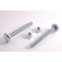M12x150 Din 603 Cup Head Bolt & Nut BZP  Grade 4.8
