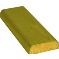 100 x 35mm x 3.6m D-Rail Treated (Green)
