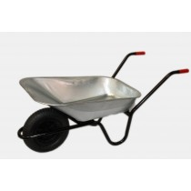 Wheelbarrow Painted Frame 85L Galvanised Top