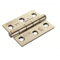 Butt Hinge Brass 100mmx76x2.5mm Plain Bearing Hinge - Grade 7