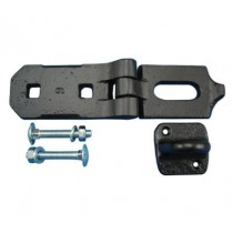 Hasp & Staple 150mm Heavy Duty  Black