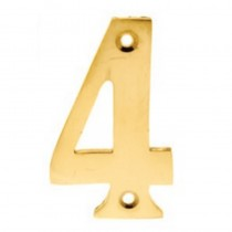 Numerals 4 Screw Fix 65mm Brass ***