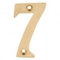 Numerals 7 Screw Fix 65mm Brass ***