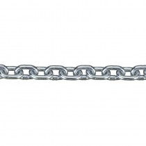 A-Link Chain Steel Cold Galvanised 5mm 'Per Metre' (Link 18.5x7x5mm)  Load Limit 160kg (Full Roll 30m) ***