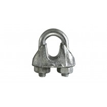 Rope Clamps (2) Galvanised for Rope up to 3mm
