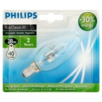 Philips Eco30 28W BC Candle Bulb Blister