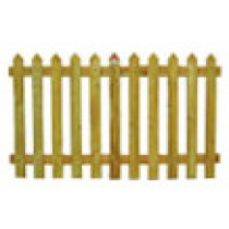 Picket Fence 1.8m x 900mm Treated (Brown)