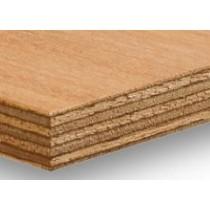 2440 x 1220 x 25mm Malaysian/ Indonesian Marine Plywood  (BS1088) BS EN 636-3 / 314-2
