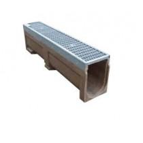 Polypropylene Channel Drain  c/w PVC Grating 1M