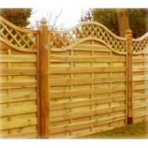 Rathlin Fence Panel 1800 x 1800mm Treated (Green)