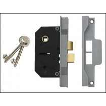 Rebated Mortice Lock 2 Lever 63mm Chrome