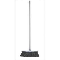 Sweeping Brush with Handle Silver