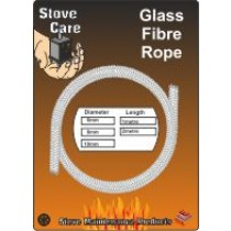 Stove Care 2m Length of 8mm Glass Fibre Rope
