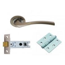 SINES WC Lever On Rose Doorpack Includes: WC Lock/Thumbturn/3x X Hip Hinges SNCP