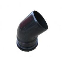 110mm Black Soil Single Socket 90 Degree Bend