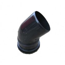 110mm Black Soil Single Socket 45 Degree Bend