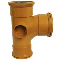 Sewer T 90 Degree Triple Socket 160x110mm