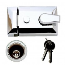 Tessi 90mm Deadlocking Nightlatch, Polished Chrome