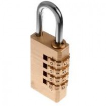 Tessi Brass Programmable Bottom Combination Padlock 50mm