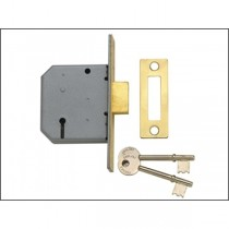 Yale Mortice Deadlock 3 Lever PM322 63mm Brass